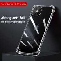 Wholesale For New Apple iPhone Pro Max X Xs XR ProMax plus Shockproof Hard Acrylic Case Back Cover Transparent Clear Airbag Corners