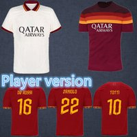 Wholesale best thailand for sale - Group buy Best thailand DE ROSSI DZEKO ZANIOLO soccer jersey Player version rome TOTTI AS PEROTTI jersey football shirt ROME