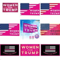 Wholesale DHL UPS Styles Trump Flags Election Women x5 Feet D Polyester x90cm Banner for Presidential Election Flags DHL Shipping