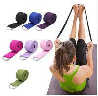 Wholesale yoga figures for sale - Group buy Women Yoga Stretch Strap Multi Colors D Ring Belt Fitness Exercise Gym Rope Figure Waist Leg Resistance Fitness Bands Yoga Belt FT14