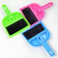 Wholesale plastic brooms dustpans resale online - Pets Cleaning Supplies Plastic Dustpan Broom Set Desktop Sweep Cleaning Brush Floor Cleaner Dust Brush for Home Clean Tools