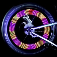 ingrosso accessori per bici a caldo-Equitazione 14LED Luce della bicicletta 30 Picture Hot Wheels Warning decorativo chiara impermeabile Spoke luci Mountain Bike Accessori