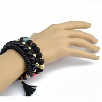 Wholesale idealway for sale - Group buy F Idealway Charming Multilayer Set Handmade Strength Beaded Bracelet Energy Waist Bracelet Set Colors