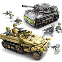 Wholesale soldiers toys resale online - 1061Pcs Empires of Steel Military Tank Technic Bricks Sets Army Playmobil Building Blocks War Soldiers DIY Education Model Kids Toys