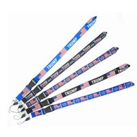 Wholesale key ring lanyards for sale - Group buy Trump Lanyards Keychain American President Election USA Flag MAGA Key Ring Straps For Mobile Phone Card Party Favor Gift LJJP305