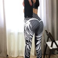 Wholesale skull honeycomb for sale - Group buy Svokor High Waist Skull New Solid Color Sexy Fitness Print Pants Honeycomb Wings Polyester Women Leggings