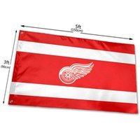 Detroit-Fans- Red-Wingss 3x5 Ft American Flag 3x5ft 100D Polyester Outdoor or Indoor Club Digital printing Banner and Flags Wholesale