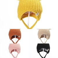 Wholesale kids character crochet hats for sale - Group buy faBqh LED New Knitted Christmas Party Unisex Adults Kids Light Year Xmas Luminous Flashing Knitting Crochet Hat Hat Favor KHA