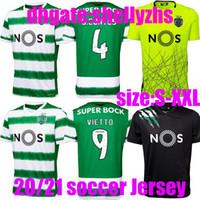 Wholesale sporting lisbon shirt resale online - men kids Thai quality Sporting Soccer jersey Lisbon Football Shirts Ronaldo FERNANDES NANI Football jersey Maillot