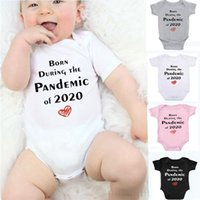 Wholesale funny newborn baby boy clothes resale online - INS Baby Clothes Letter Newborn Girl Rompers Short Sleeve Infant Boy Jumpsuits Funny Children Playsuit Photo Props Summer Baby Clothing