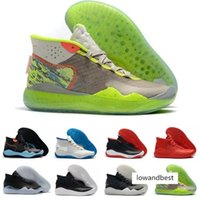 Wholesale kevin durant shoes orange green resale online - Cheap Kd Starting Kevin Durant Xii Ep The Day One Ss Protro Green Camo Mens Womens Kid Basketball Shoes s Kd12 Sneakers Size36
