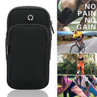 waterproof arm phone holder 2021 - Mobile Phone Arm Bag Waterproof Running Under Arm Bag Men Sports Outdoor Fitness Universal Wrist Band Holder Armband Case