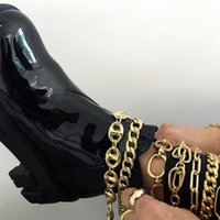 Wholesale pig feet resale online - Jewelry hip hop Accessory foot chain punk street fashion foot accessories creative pig nosemulti layer chain set anklet