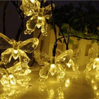 Wholesale solar outdoor led butterfly light for sale - Group buy Cgjxs Solar Christmas Lights m Led Butterfly Solar Fairy String Lights Decorating Waterproof For Outdoor Gardens Yard