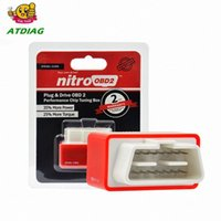 Wholesale OBD2 Car Nitro Performance Chip Tuning Box NitroOBD2 OBD Interface Plug and Drive More Power More Torque Works For Diesel Cars tX3Z