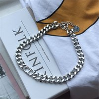 Wholesale thick chains for sale - Group buy ins personalized fashion letter CD thick chain necklace cold style street shot all match choker clavicle necklace