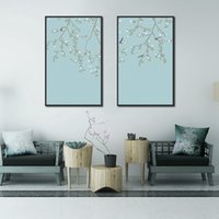 Wholesale wall art painting canvas chinese resale online - Decorative Chinese Painting Hand painted Plum Blossom Painting Flower And Bird Canvas Background Wall Art Decor For Living Room