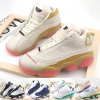 Wholesale boys sneakers size 13 resale online - Jumpman Kids Basketball Shoes Fashion S Boys Girl Sneakers CNY Aurora Green Flint Bred Chicago Toddler Outdoor Trainers Size