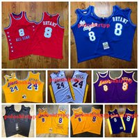 Wholesale top purple basketball jerseys for sale - Group buy Top Quality Mens Retro Los Angeles Lakers Kobe Bryant jersey Gold Yellow Purple Basketball Jerseys