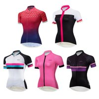 Wholesale jerseys for girls resale online - Wulibike Girls Racing Sport Bike Jersey Short Sleeve Summer Road MTB Cycling Shirt for Women Breathable Quick Dry