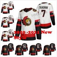 Wholesale 2020 Ottawa Senators Custom Thomas Chabot Brady Tkachuk Daniel Alfredsson Alexei Yashin Dominik Hasek Anisimov Brown White Hockey Jerseys