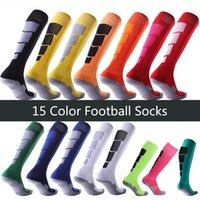 Wholesale thick towel socks resale online - Adult Football Socks Stockings Thick Towel Bottom Non slip Wear resistant Deodorant Breathable Sweat absorbent Football Sports Socks DHB1659