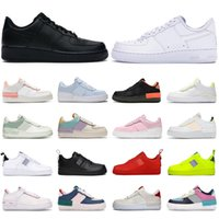ingrosso scarpe per camminare-2020 nike air force 1 shadow af1 forces one shoes uomini donne scarpe platform sneakers ombra Coral Pink Pale Ivory Triple white Pastel Flax mens trainer casual jogging walking