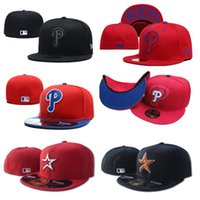 ingrosso berretti da baseball fan-mens all'ingrosso progettista berretti da baseball Astros Phillies cappelli classico cappello misura fullclosed Embroiered teamNY fan logo in alto cappello da baseball