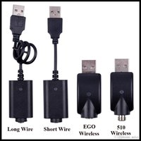 Wholesale EGO USB Charger Cable Long Short Wired Charging Cable EGO EVOD Wireless USB Charging Cord for E Cig Cartridge Batteries