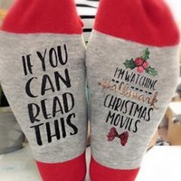 Wholesale funny wine gifts resale online - Funny Saying If You Can Read This Socks Bring Me Wine Coffee Tea Whisky Gifts Socks For Women Christmas Casual Words Socks LJJK2471