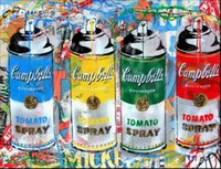 Wholesale paint cans resale online - Mr Brainwash Campbell s Spray Can Home Decor Handpainted HD Print Oil Painting On Canvas Wall Art Canvas Pictures