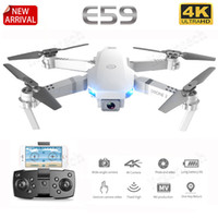 Wholesale degree life for sale – best E59 RC LED Drone K HD Video Camera Aerial Photography Helicopter Degree Flip WIFI long battery life for Kis adult