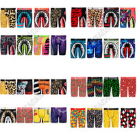 32 Styles Quick Dry Men Panties Boxers Designers Underwear Long Boxer Briefs Shark Cartoon Beach Shorts Pants Underpant D81705