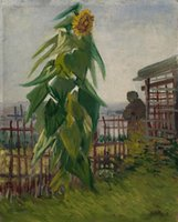 Wholesale sunflower home decor resale online - Vincent Van Gogh Wall decor The Garden with Sunflower Home Deco Oil Painting On Canvas Wall Art Canvas Pictures