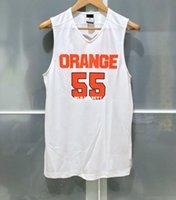 Wholesale elite mens jerseys resale online - Cheap SYRACUSE ORANGE CUSE MENS BASKETBALL ELITE GAME JERSEY WHITE T shirt vest Stitched Basketball jerseys