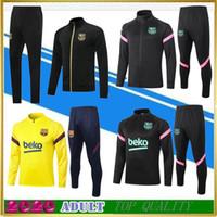 Wholesale 2020 Adult soccer tracksuit jacket Best quality football jacket suit training suit training clothes