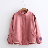 Kids Clothing Outwear PINK Jackets Student Girls Fashion Warm Corduroy Hooded