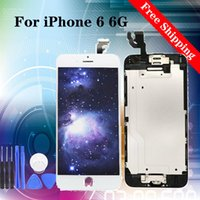 Wholesale iphone 4.7 lcd display resale online - 4 quot Super quality for iPhone LCD Screen Display Replacement With Touch Digitizer black white tested with tempered film gifts