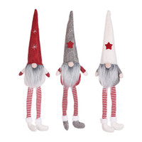 Wholesale green toys cotton for sale - Group buy Christmas No Face Dolls Funny Window Decoration Santa Doll New Year Gift Cartoon Christmas Toys Decor M2638