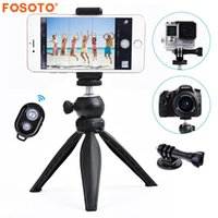 Wholesale camcorder mini tripod for sale - Group buy fosoto FT Mini Tripod with Phone Holder Mount Gegree Camera Tripod Monopod For DSLR For Digital Cameras Camcorders
