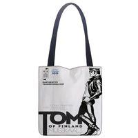Wholesale tom paintings resale online - Custom Tom of Finland paint printing shoulder bag canvas tote bag shopping travel book handbag custom logo T200408