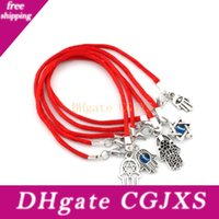 Wholesale good luck string bracelet for sale - Group buy Hot Items Mixed Kabbalah Hand Charms Red String Good Luck Bracelets Men And Women Lucky Bracelet