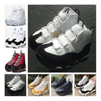 Wholesale 2020 New arrival Mens pippen shoes triple white black red yellow blue purple gold Scottie Sneakers Sports Trainers size