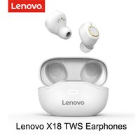 fones de ouvido earplug venda por atacado-Lenovo X18 TWS fone de ouvido sem fio Bluetooth 5.0 Super Light Earplug longa da bateria Toque Chaves Headset SweatProof Esportes Earbuds