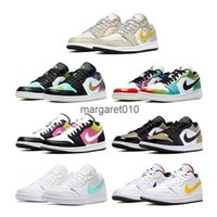yıldız tahtası toptan satış-Nike air jordan retro 1 LOW dazzlings star theme men sports shoes AJ 1 Basketball Sneakers people board shoes CW7309-090 CK3022-107