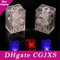 Wholesale light toys for babies for sale - Group buy Diy Building Blocks Bricks Colorful Led Light Emitting Kids Baby Funny Compatible Block Toys For Children Birthday Gifts Q0892