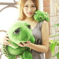 Wholesale big eye turtle plush toy resale online - Cute Big Eyes Tortoise Plush Doll Pillow Cushion Stuffed Animal Toy Lovely Soft Cotton Small Sea Turtles Kids Gift