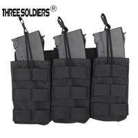 Wholesale gear pouch for sale - Group buy Tactical Modular Triple Open Top Magazine Molle Pouch Paintball Gear Vest Accessory Pack for G36