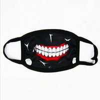 Wholesale tokyo ghoul masks resale online - Tokyo Ghoul Kaneki Ken Horror Halloween Cosplay Mask Winter Anti Dust Cotton Funny Warm Face Mask Mouth Muffle Fast Shipping