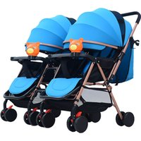 twin baby stroller detachable two way double